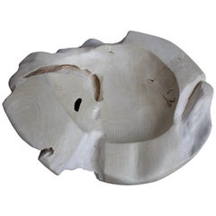 Andrianna Shamaris Bleached Teak Wood Sculptural Bowl