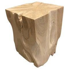 Andrianna Shamaris Bleached Teak Wood Side Table