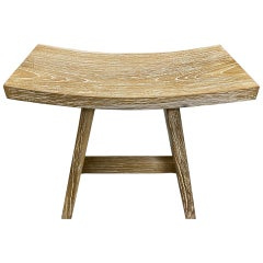 Andrianna Shamaris Cerused Teak Wood Bench