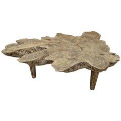 Andrianna Shamaris Cerused Teak Wood Coffee Table