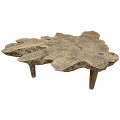 Andrianna Shamaris Cerused Teak Wood Coffee Table