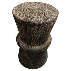 Andrianna Shamaris Cerused Teak Wood Side Table