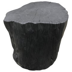 Andrianna Shamaris Charred Lychee Wood Side Table