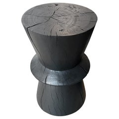 Andrianna Shamaris Charred Tamarind Wood Side Table