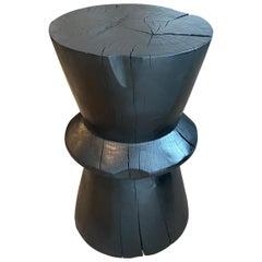 Andrianna Shamaris Charred Tamarind Wood Side Table