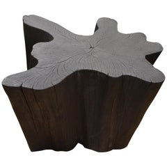 Andrianna Shamaris Charred Teak Wood Coffee Table