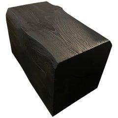 Andrianna Shamaris Charred Teak Wood Log Bench or Coffee Table