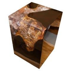 Andrianna Shamaris Cracked Resin Side Table