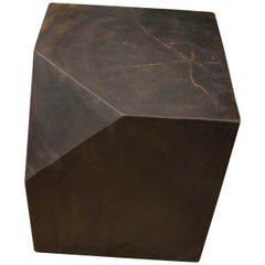 Andrianna Shamaris Faceted Suar Wood Side Table