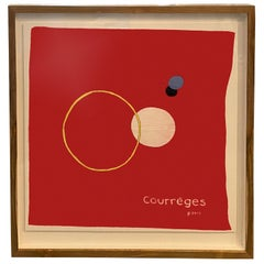 Andrianna Shamaris Framed Abstract Courrèges Scarf from Paris France