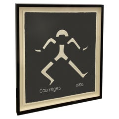 Andrianna Shamaris Framed Abstract Courrèges Scarf from Paris, France