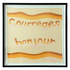 Andrianna Shamaris Framed Vintage Courrèges Bonjour Scarf from Paris France