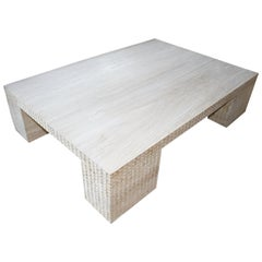 Andrianna Shamaris Hand Carved St. Barts Teak Wood Coffee Table