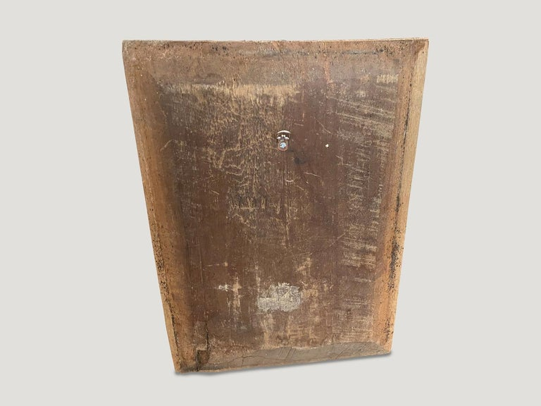 Primitive Andrianna Shamaris Hand Carved Wooden Panel For Sale