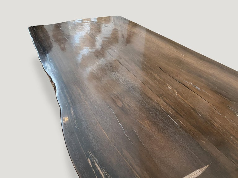 Contemporary Andrianna Shamaris High Quality Petrified Wood Dining Table For Sale