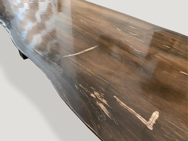Andrianna Shamaris High Quality Petrified Wood Dining Table For Sale 1