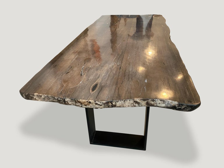 Andrianna Shamaris High Quality Petrified Wood Dining Table For Sale 2
