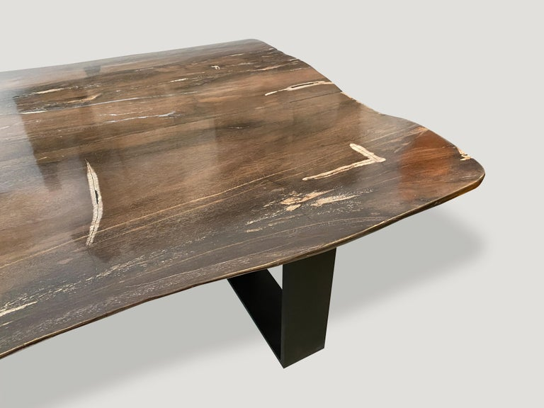 Andrianna Shamaris High Quality Petrified Wood Dining Table For Sale 3