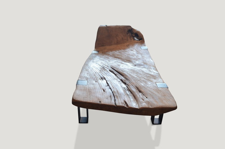 Tremendous Andrianna Shamaris Impressive Teak Wood Slab Chaise Interior Design Ideas Inamawefileorg