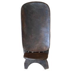 Andrianna Shamaris Iroko Wood African Hand Carved Chair