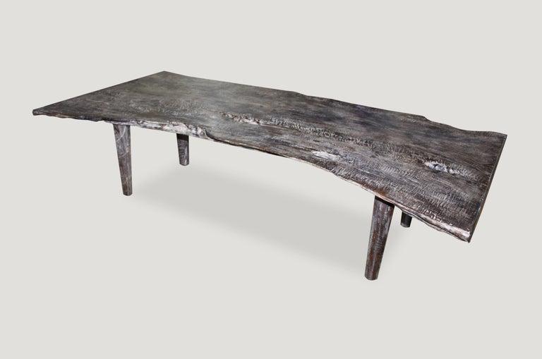 Andrianna Shamaris Live Edge Single Slab Teak Wood Coffee Table or Bench For Sale 1