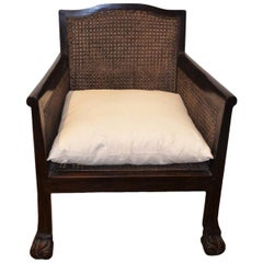 Andrianna Shamaris Low Teak Wood Colonial Chair