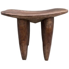 Andrianna Shamaris Mahogany Wood African Side Table, Stool or Bench