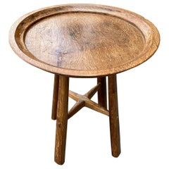 Andrianna Shamaris Midcentury Couture Antique Wabi Tray Side Table