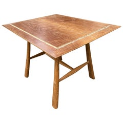 Andrianna Shamaris Midcentury Couture Teak Wood Cocktail Table or Entry Table