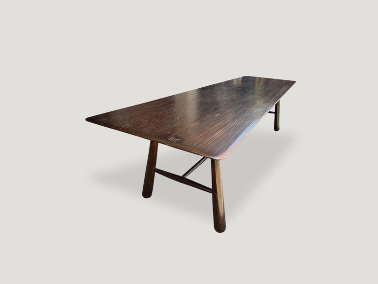 Introducing the mid century Couture Collection new to 2021. Furniture constructed by hand from start to finish. Two beautiful slabs of reclaimed teak wood, taken from my finest collection and turned into a stunning dining table or fabulous extra
