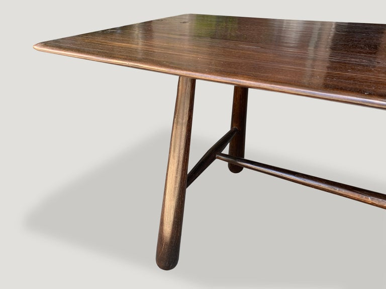 Mid-Century Modern Andrianna Shamaris Mid Century Couture Teak Wood Dining Table or Console Table For Sale