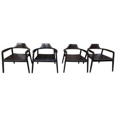 Andrianna Shamaris Midcentury Couture Set of Four Chairs