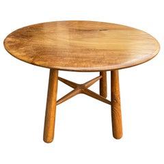 Andrianna Shamaris Midcentury Couture Single Slab Teak Wood Table