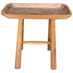 Andrianna Shamaris Midcentury Couture Teak Wood Antique Tray Side Table