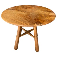 Andrianna Shamaris Midcentury Couture Teak Wood Round Table