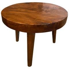 Andrianna Shamaris Midcentury Style Teak Wood Side Table