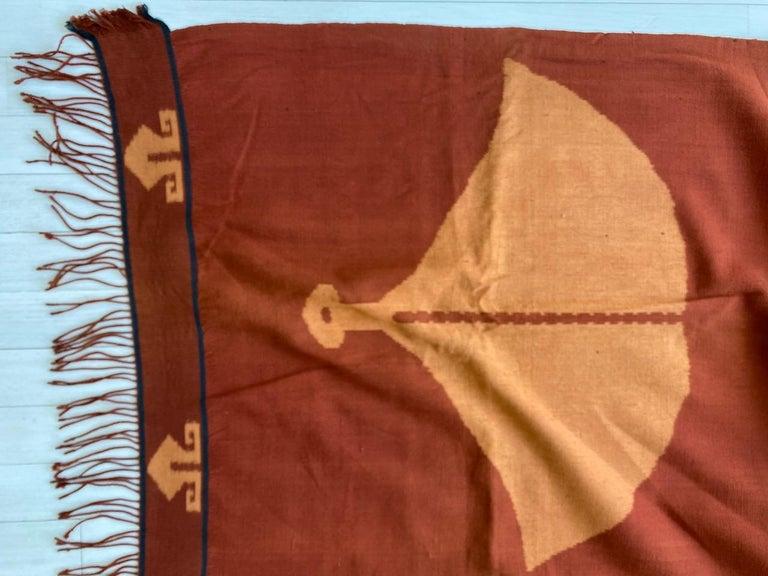 Andrianna Shamaris Minimalist Antique Hand Woven Cotton Textile For Sale 3
