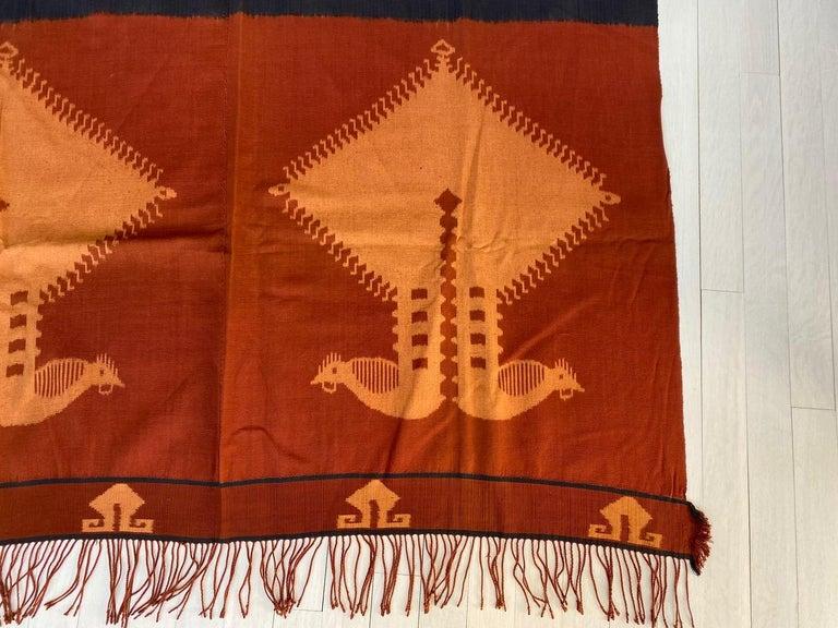Andrianna Shamaris Minimalist Antique Hand Woven Cotton Textile For Sale 4