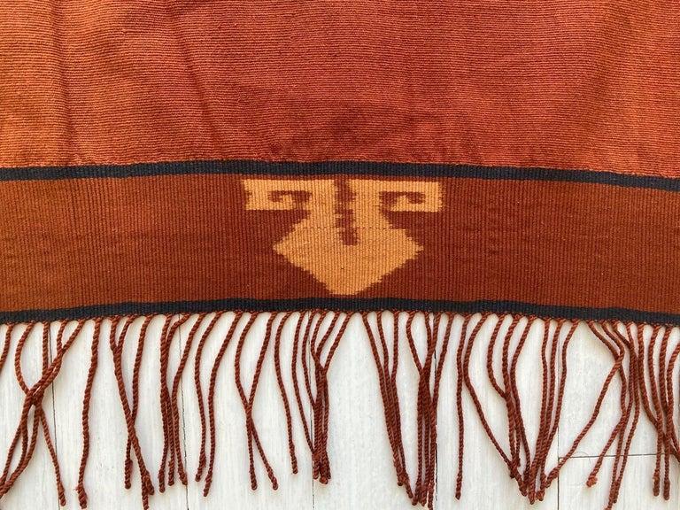 Tribal Andrianna Shamaris Minimalist Antique Hand Woven Cotton Textile For Sale
