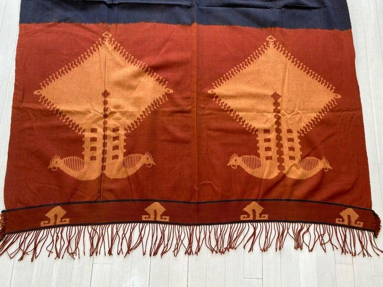 Hand-Woven Andrianna Shamaris Minimalist Antique Hand Woven Cotton Textile For Sale
