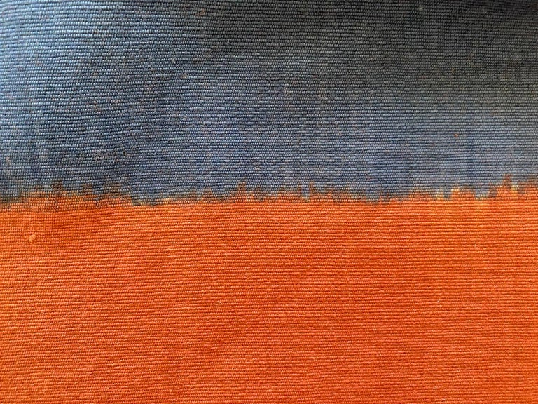 Andrianna Shamaris Minimalist Antique Hand Woven Cotton Textile In Excellent Condition For Sale In New York, NY