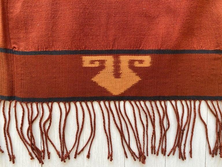 20th Century Andrianna Shamaris Minimalist Antique Hand Woven Cotton Textile For Sale
