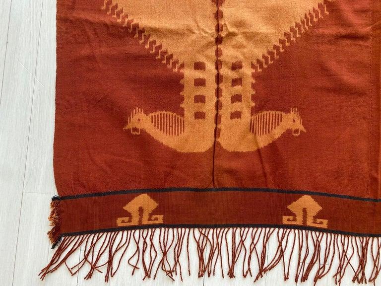 Andrianna Shamaris Minimalist Antique Hand Woven Cotton Textile For Sale 1