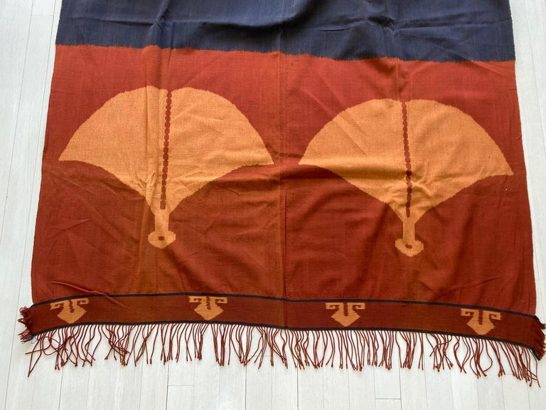 Andrianna Shamaris Minimalist Antique Hand Woven Cotton Textile For Sale 2