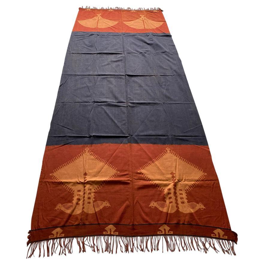 Andrianna Shamaris Minimalist Antique Hand Woven Cotton Textile