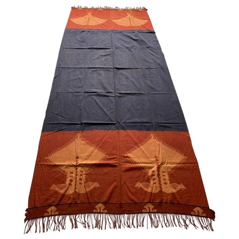 Andrianna Shamaris Minimalist Antique Hand Woven Cotton Textile For Sale