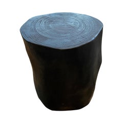 Andrianna Shamaris Minimalist Charred Suar Wood Side Table