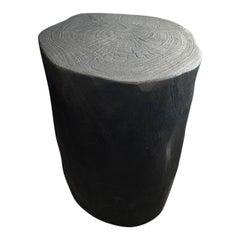 Andrianna Shamaris Minimalist Charred Suar Wood Side Table