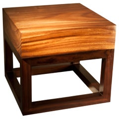Andrianna Shamaris Minimalist Suar Wood Side Table
