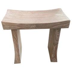 Andrianna Shamaris Minimalist Teak Wood Bench